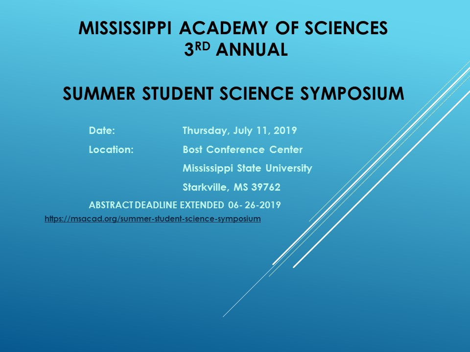 Meeting Information | Mississippi Academy of Sciences
